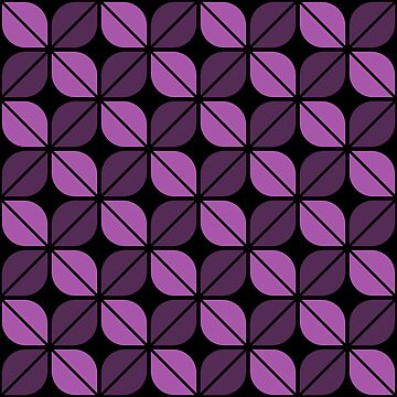 Geometric Pattern: Leaf: Purple/Black by redwolfoz