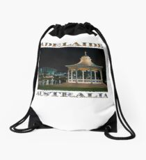 Illuminated Elegance (poster on white) Drawstring Bag