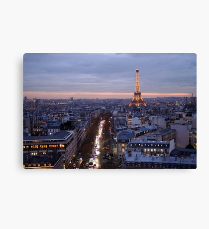France - Paris 75007 - By night Canvas Print