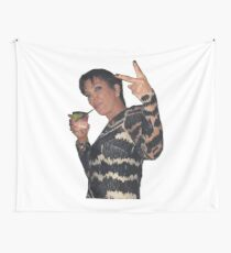 Kris Jenner Peace Sign Tapestry