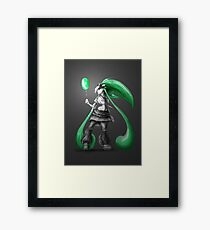 Rainbow Punk: Emerald Funk Framed Print