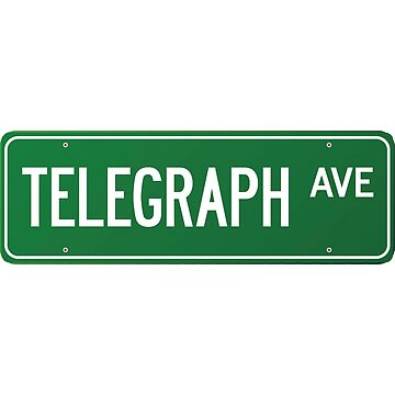 Telegraph Ave. Street Sign by doddamar