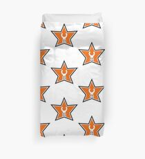 Customize My Minifig Star Logo Design Duvet Cover
