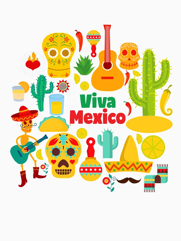 Viva Mexico - Mexican Symbols, Souvenir Gift, Illustration by STYLESYNDIKAT