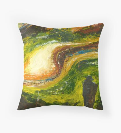 "Coming Home No 4 - ""Keeping Watch"" Throw Pillow"