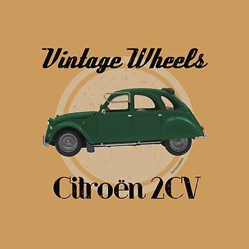 Vintage Wheels - Citroën 2CV by DaJellah