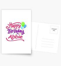 Happy Birthday Abbie Postcards