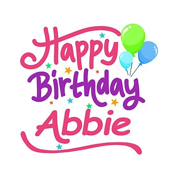 Happy Birthday Abbie by PM-Names
