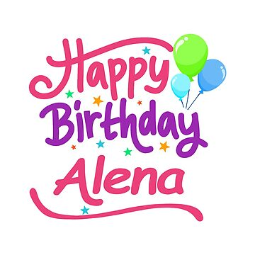 Happy Birthday Alena by PM-Names
