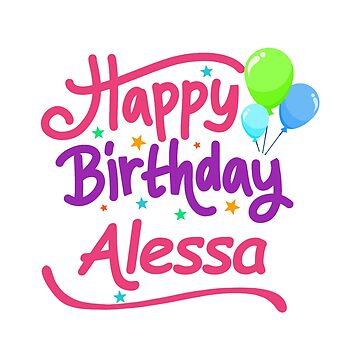 Happy Birthday Alessa by PM-Names