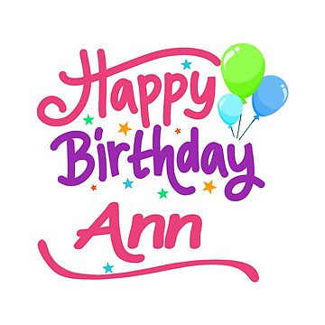 Happy Birthday Ann by PM-Names