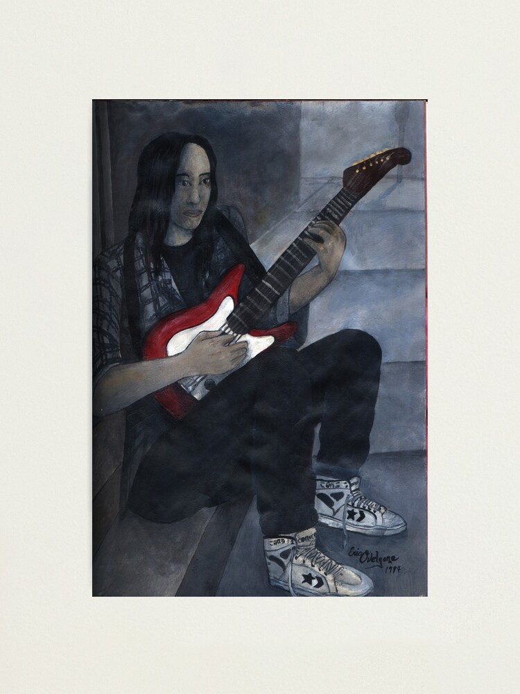 Alternate view of Red Guitar Photographic Print