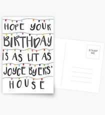 Lit Birthday Card 2 (revised and better than ever) Postcards