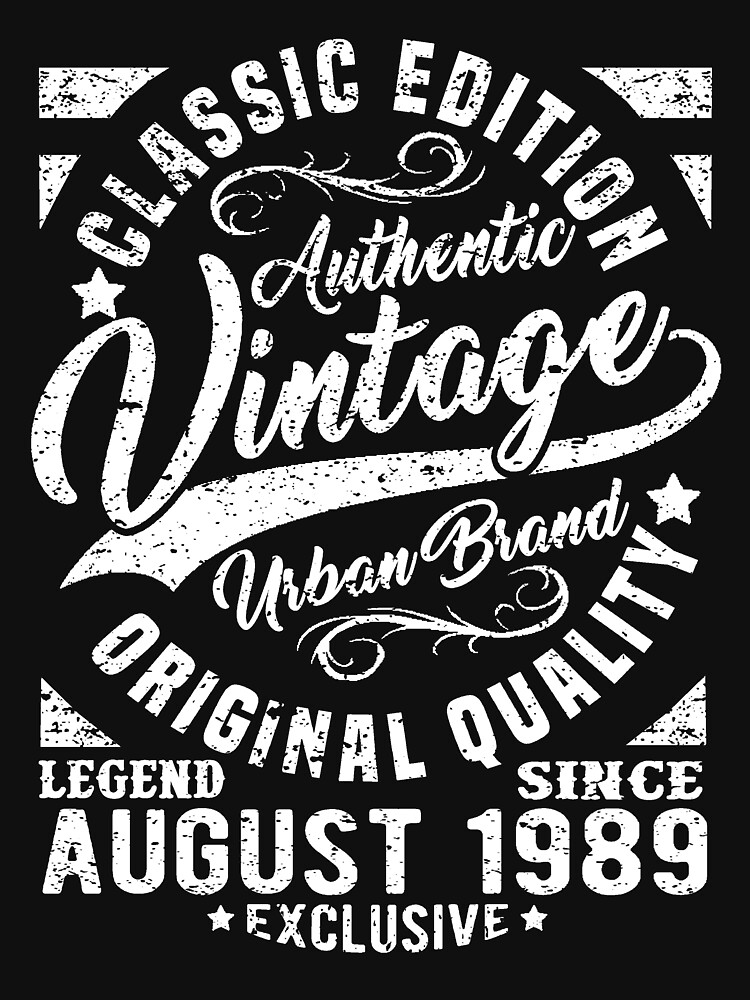 Vintage since august 1989 by NEDERSHIRT