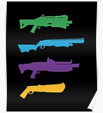 Fortnite Shotguns Poster