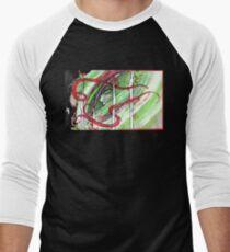 Yonori: Red Ribbons Men's Baseball ¾ T-Shirt