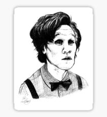 Matt Smith (Doctor Who) Etching Sticker