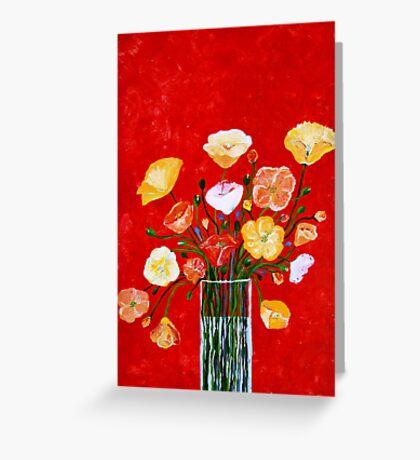 Vase of Poppies Greeting Card