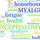 ME/CFS Wordcloud (Colour1) by matomatonuk