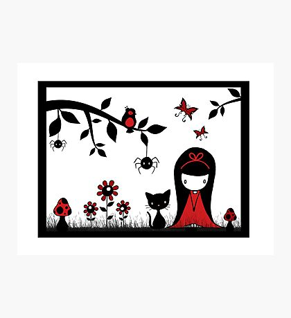 Little Red Ribbon Head Photographic Print