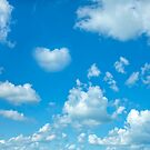 Blue sky and clouds by artsandsoul