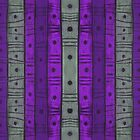 Stripes and dots, gray and purple, abstract pattern by clipsocallipso