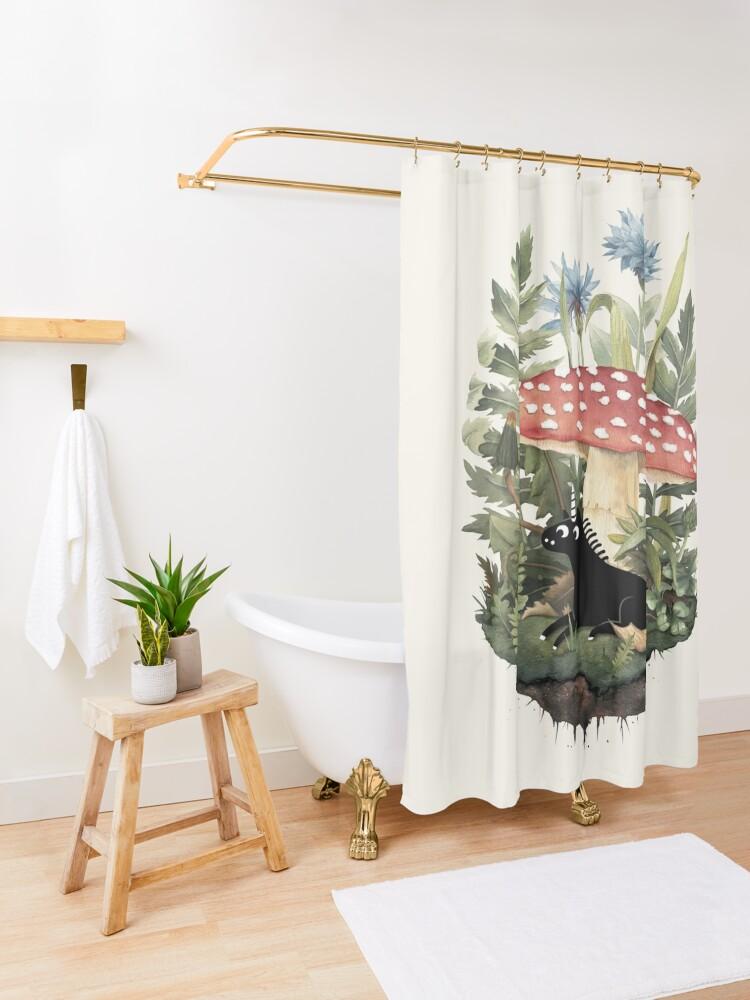 Alternate view of Tiny Unicorn Shower Curtain