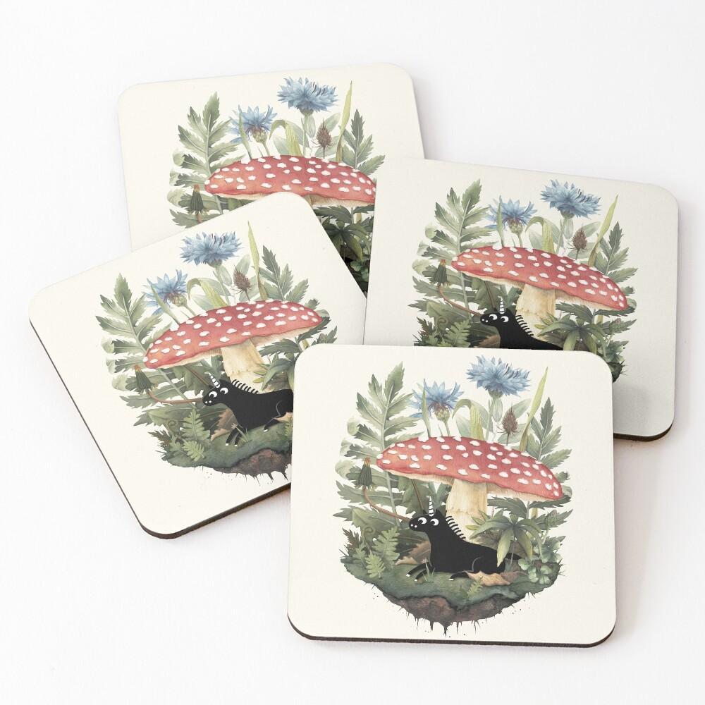Tiny Unicorn Coasters (Set of 4)