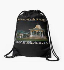 Illuminated Elegance (poster on black) Drawstring Bag