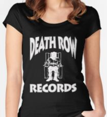 Death Row Record Women's Fitted Scoop T-Shirt