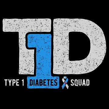 T1D Type 1 Diabetes Squad Awareness Ribbon by kolbasound