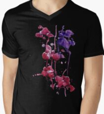 Dripping Orchids Men's V-Neck T-Shirt