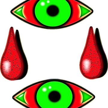 Red and green eye icons with tears by M-Lorentsson