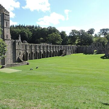 Fountains Abbey: Side wall by CreativeEm