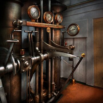 Steampunk - Controls - The Steamship control room by mikesavad