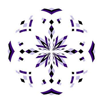 Mandala 17 - Purple by Cybarxz