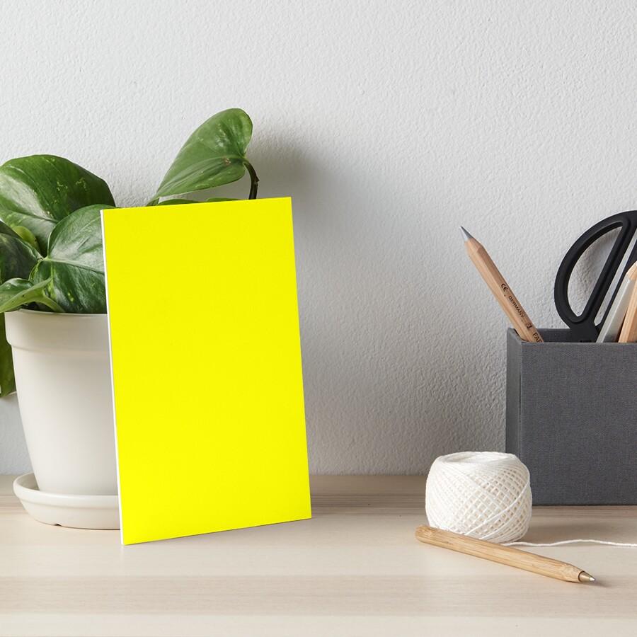 Helles Gelb Galeriedruck