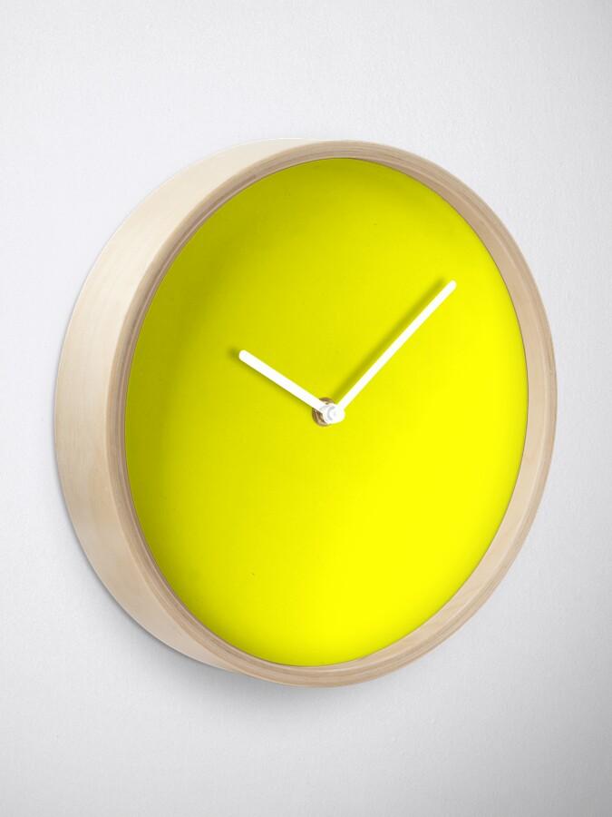 Alternative Ansicht von Helles Gelb Uhr