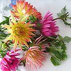 Dahlia bouquet by Ana Belaj