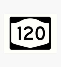 New York State Route NY 120 | United States Highway Shield Sign Art Print
