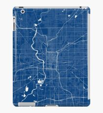 Indianapolis Map In Colts Colors iPad Case/Skin