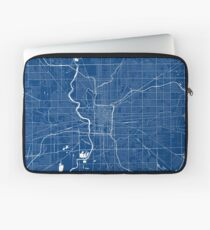 Indianapolis Map In Colts Colors Laptop Sleeve