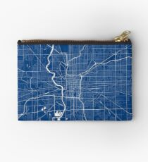Indianapolis Map In Colts Colors Studio Pouch