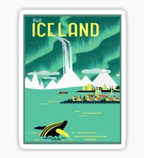 ICELAND : Vintage Travel and Tourism Advertising Print Sticker