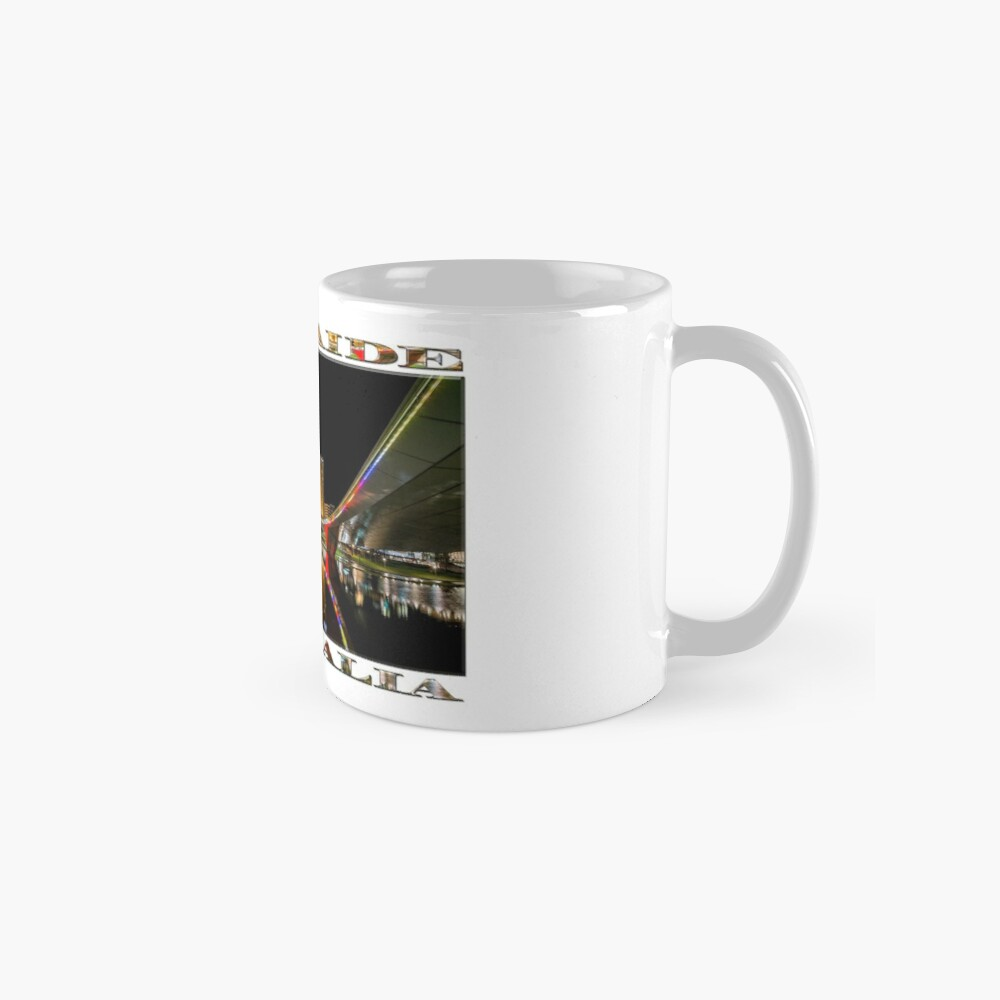 Adelaide Riverbank at Night (poster on white) Mug