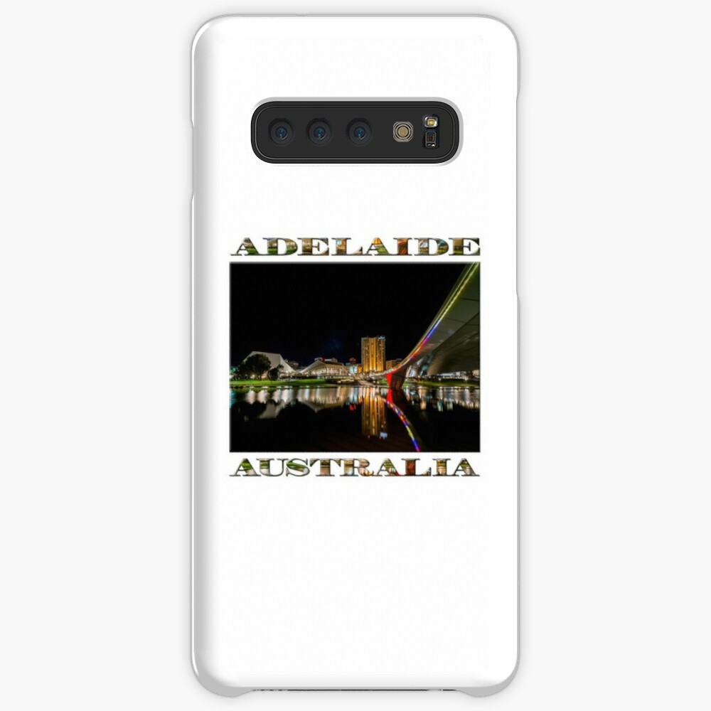 Adelaide Riverbank at Night (poster on white) Case & Skin for Samsung Galaxy