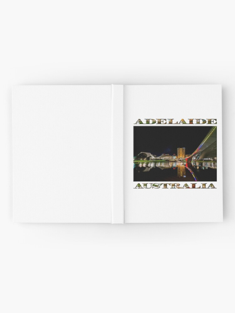 Alternate view of Adelaide Riverbank at Night (poster on white) Hardcover Journal