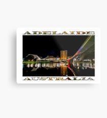 Adelaide Riverbank at Night (poster on white) Metal Print