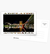 Adelaide Riverbank at Night (poster on white) Postcards