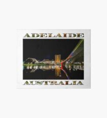 Adelaide Riverbank at Night (poster on white) Art Board
